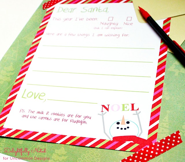 picture regarding Free Printable Christmas Letters From Santa referred to as Letter toward Santa Cost-free Xmas Printable
