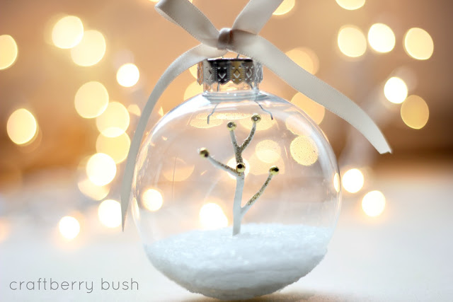 snow globe ornament