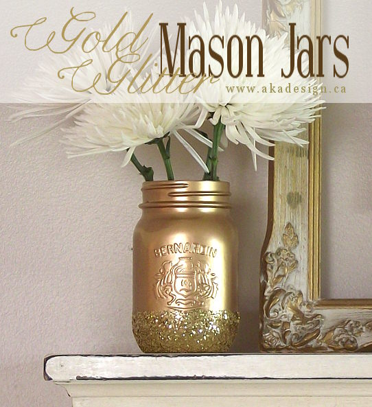 New-years-gold-glitter-mason-jars
