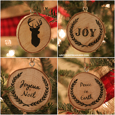 DIY Wood Slice Ornaments