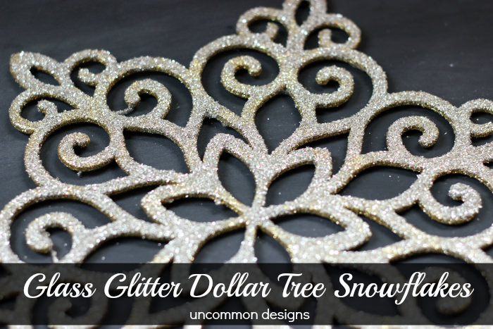 Glass Glitter Snowflakes | #snowflakes #glitter #christmasornament #crafts