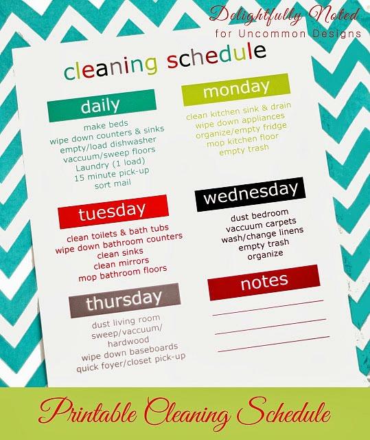Printable -weekly-cleaning-schdeule-uncommondesigns
