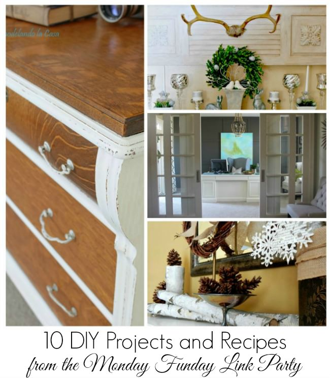 10 DIY Projects and Recipes from the 6 Blog Monday Funday link party. Join us each Sunday night at 7pm EST at www.uncommondesignsonline.com