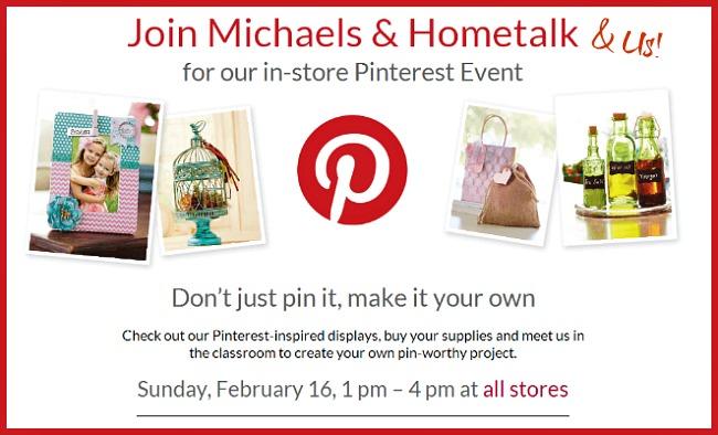 Michaels and Hometalk Pinterest Party #mpinterestparty