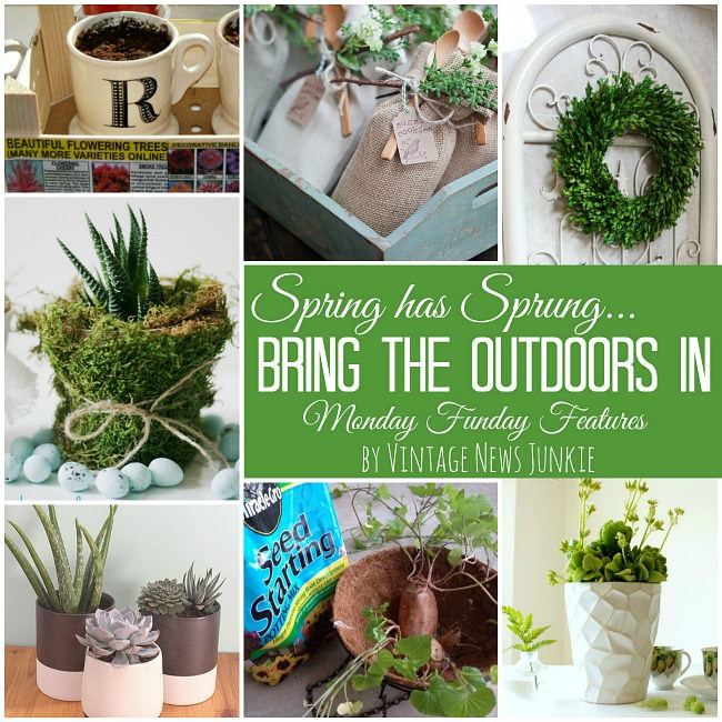 7 amazing ways to bring the outdoors inside! Perfect spring projects.#spring #diycrafts #diyprojects #mondayfundayparty