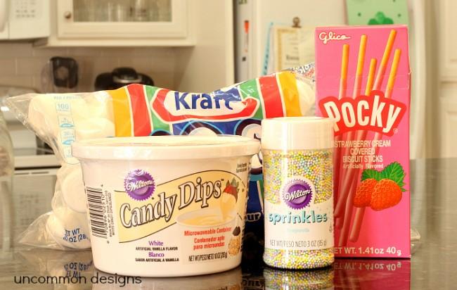 An Easter dessert idea... Marshmallow Pops!   www.uncommondesignsonline.com #Easter  #Desserts