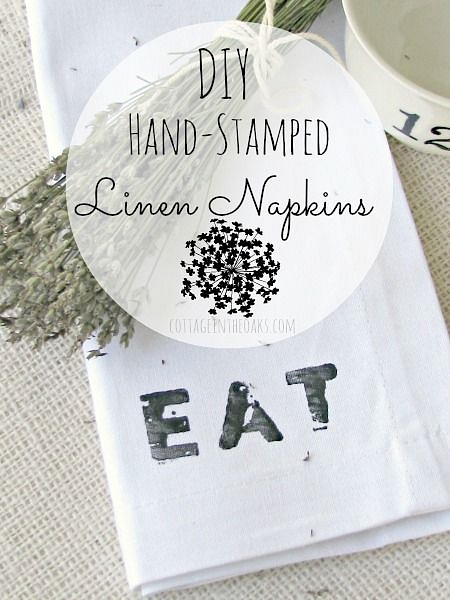 DIY-hand-stamped-linen-napkins
