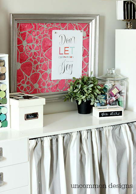 Craft Room Inspiration via www.uncommondesignsonline.com #CraftOrganization #CraftRoom