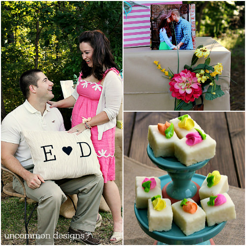 Host a beautiful and fun backyard couples wedding shower! www.uncommondesignsonline.com #Wedding #WeddingShower #ShutterflyWedding