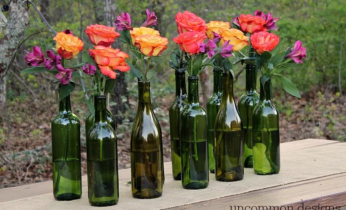 Easy and Elegant Wine Bottle Centerpiece