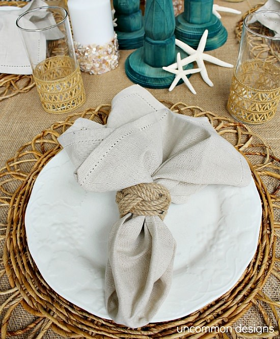 Beach Table Setting Uncommon Designs