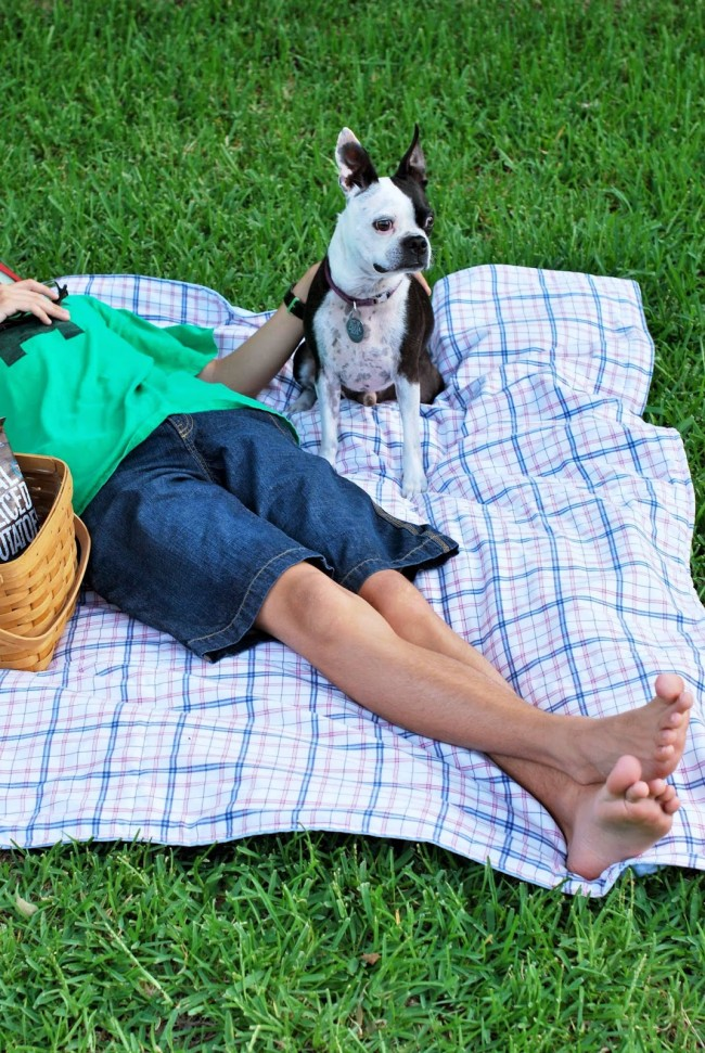 Make a Quick and Easy One Hour Picnic Quilt #OneCraftySummer