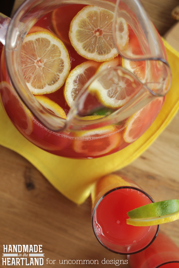 Cool off with this Watermelon Lemon-Limeade.  Summer's most adored fruits are the star of this delicious drink recipe and you are going to love it!