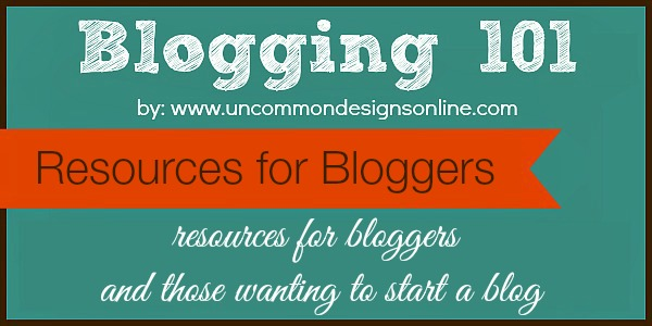 Resources for bloggers and those wanting to start a blog. #blogresources #startablog