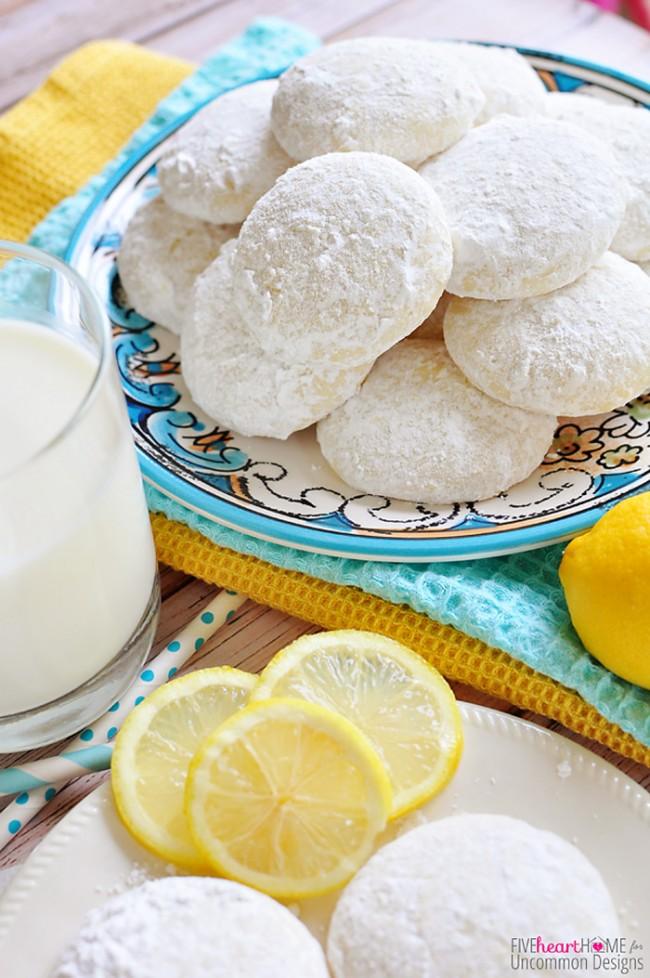 Tender, Buttery Lemon Cooler Cookies Recipe www.uncommondesignsonline.com