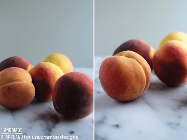 Peach Crumble Pie via Uncommon Designs