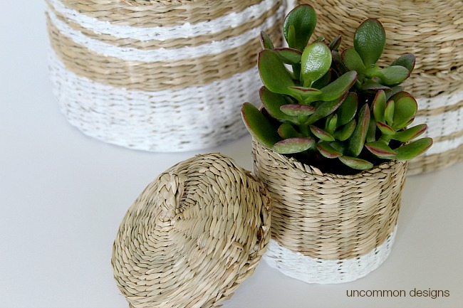 painted-striped-baskets-chalky-finish-paint