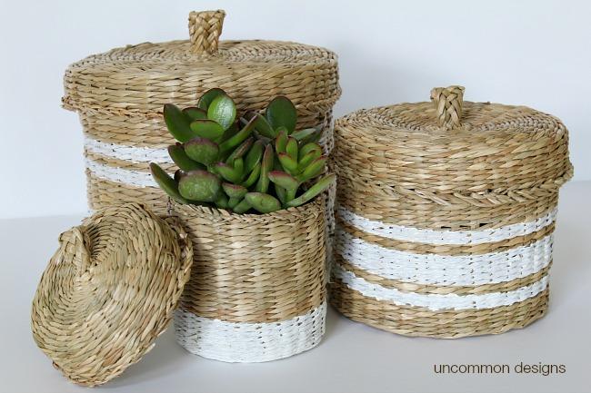 stripe-painted-baskets-chalk-paint