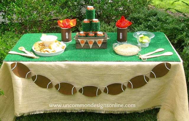 An adorable DIY tailgating table! via Uncommon Designs