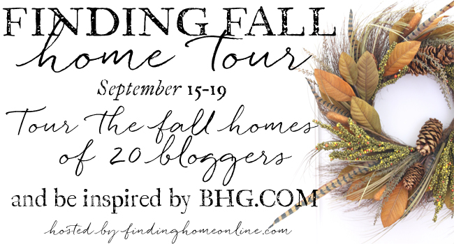 Finding Fall Home Tour! 20 bloggers featurinf their homes for fall! #hometour #fallhometour