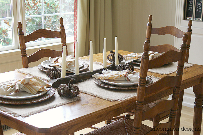 Fall simple tablescape. #findingfallhometour