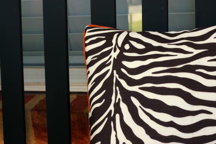fall zebra pillow