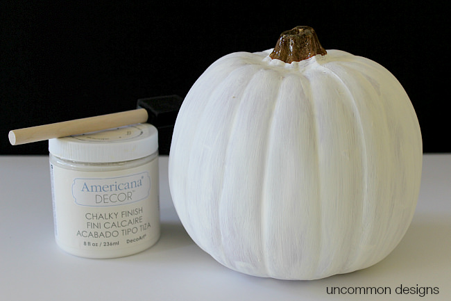 chalky-finish-painted-pumpkin