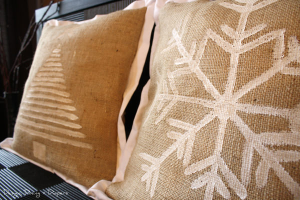 Burlap-pillows
