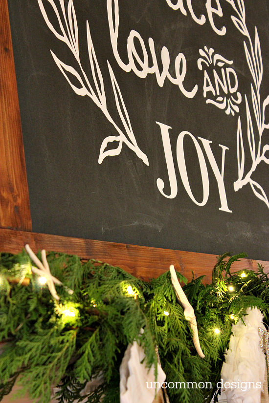 christmas chalkboard wall art