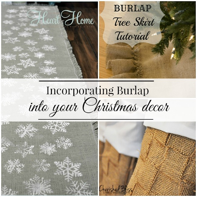 Ideas for using burlap in your Christmas decor via Uncommon Designs