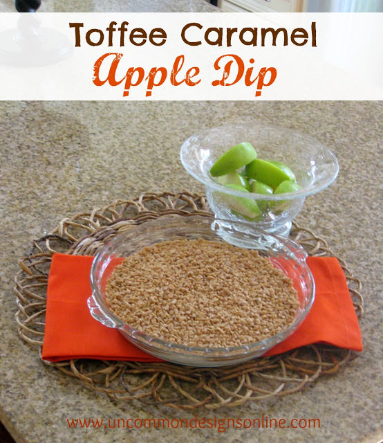 You will want to have this Toffee Caramel Apple Dip every single tailgate via Uncommon Designs.