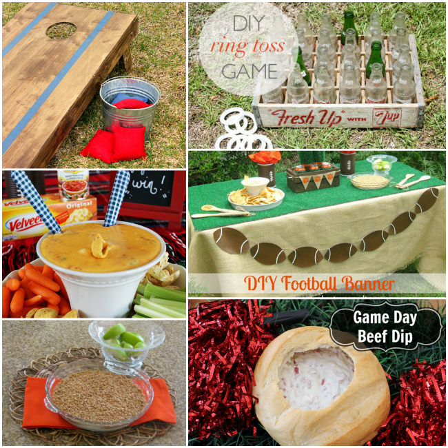 Awesome Super Bowl Party Ideas for throwing the best tailgating party ever. These tailgate ideas include recipes, decorations, and games.