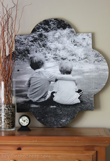 quatrefoil photo wall art by DIY on the Cheap