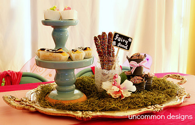 Fairy Tea Party food and display via Uncommon Designs.