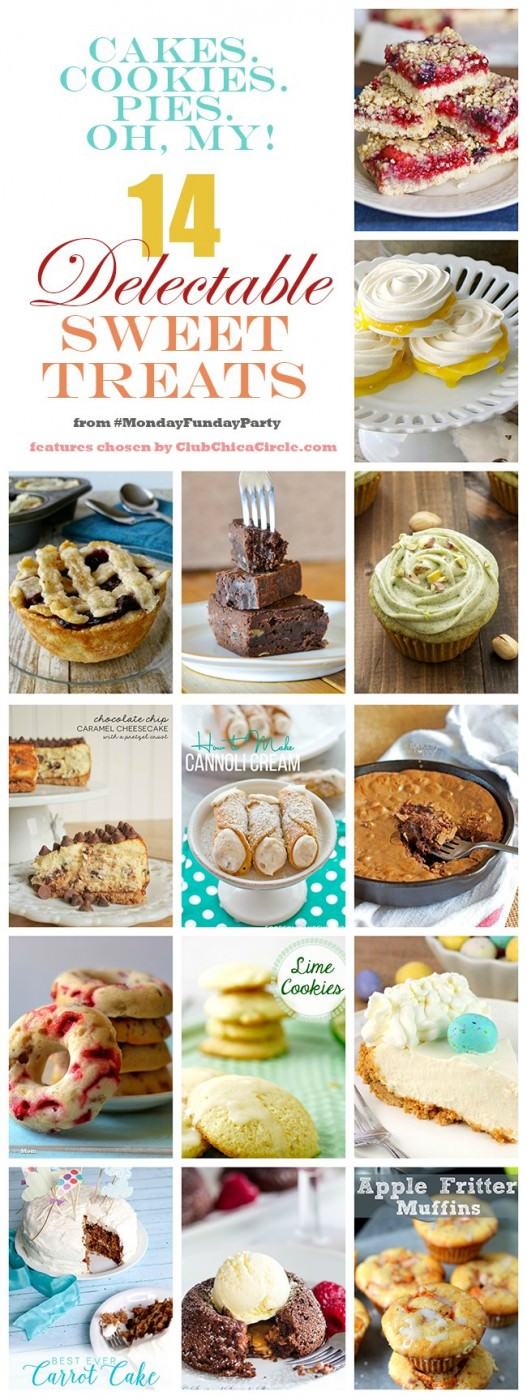 14 incredible sweet treats and desserts from the 8 blog Monday Funday party via Uncommon Designs.
