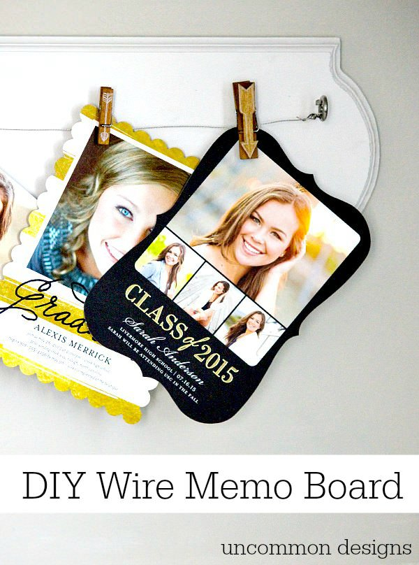 Create a DIY Wire Memo Board in less than 5 minutes with Uncommon Designs. #ShutterflyGrad #ad