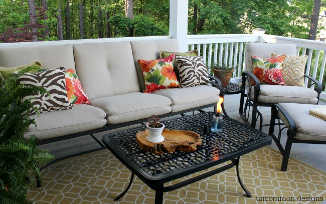 Outdoor Summer Porch via Uncommon Designs.