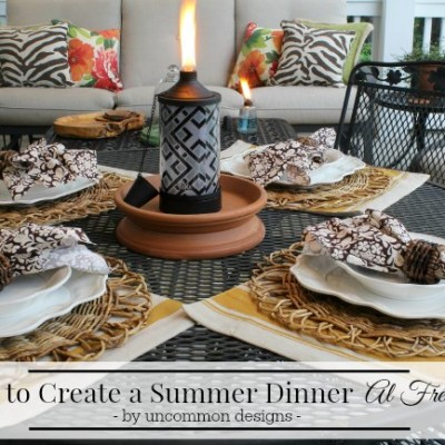 Tips on Creating a Summer Dinner Al Fresco