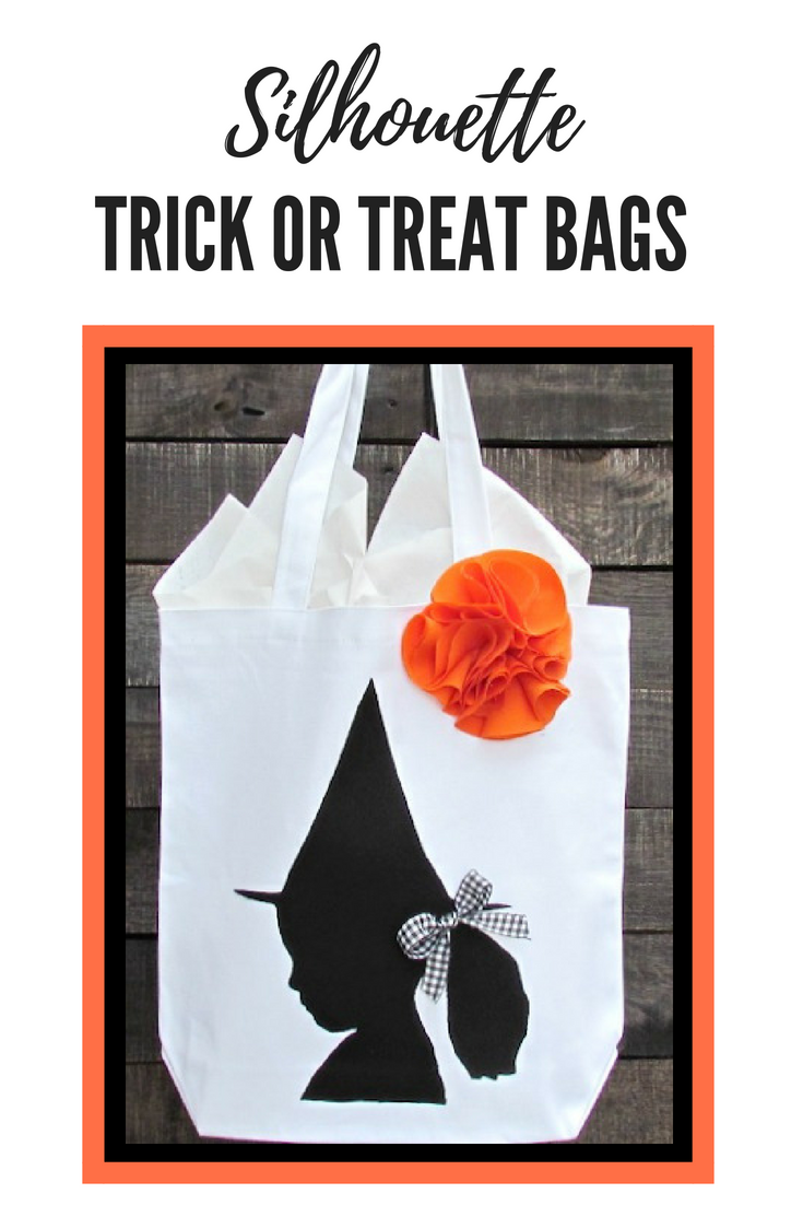 These silhouette trick or treat bags are such a fun Halloween craft project!