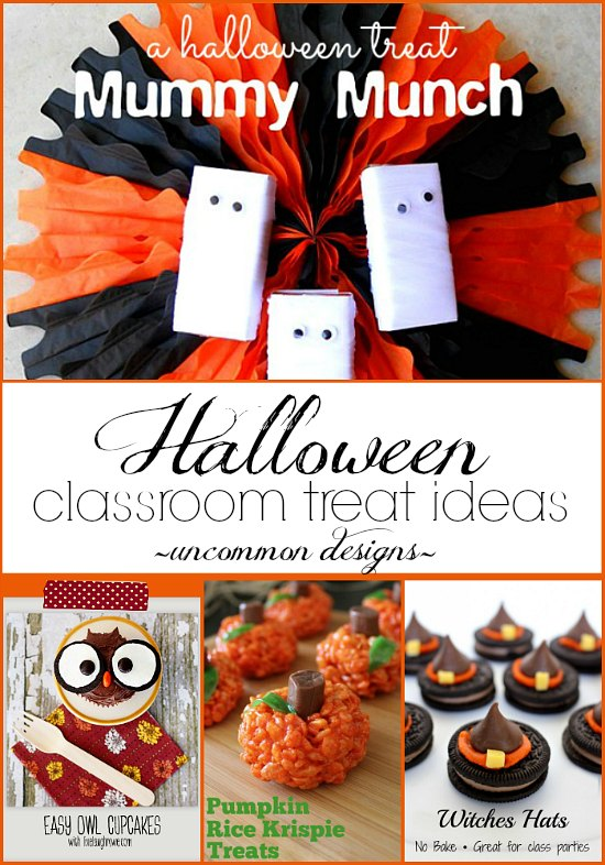 A collection of fabulous Halloween Classroom Treat Ideas by Uncommon Desiigns