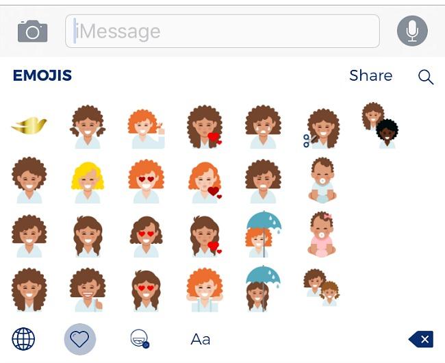 Dove-curly-hair-emoji-keyboard