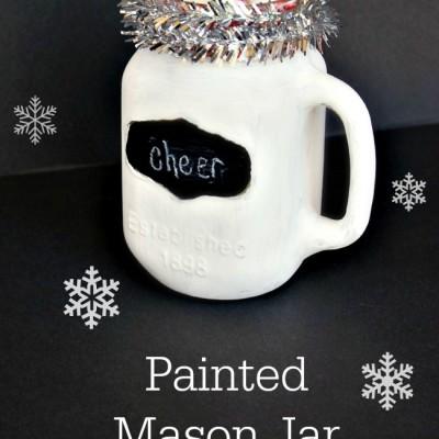 Painted Mason Jar Mug