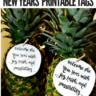 Happy New Year Printable Tags