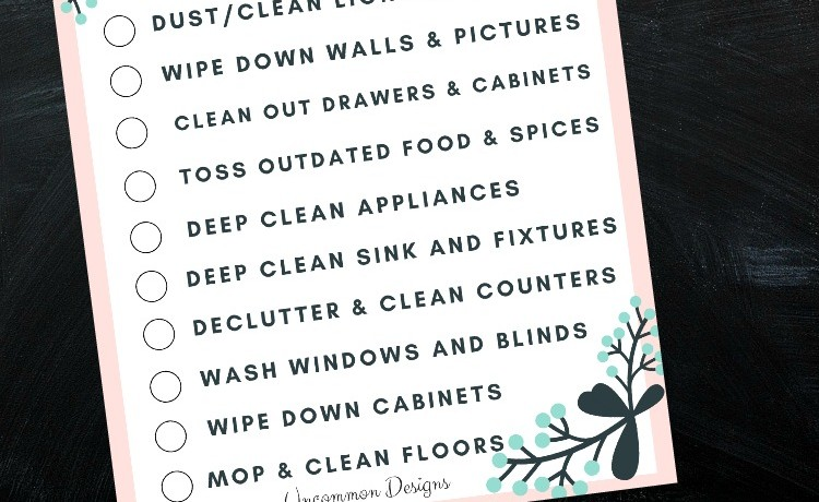Spring Cleaning the Kitchen with a Printable Checklist