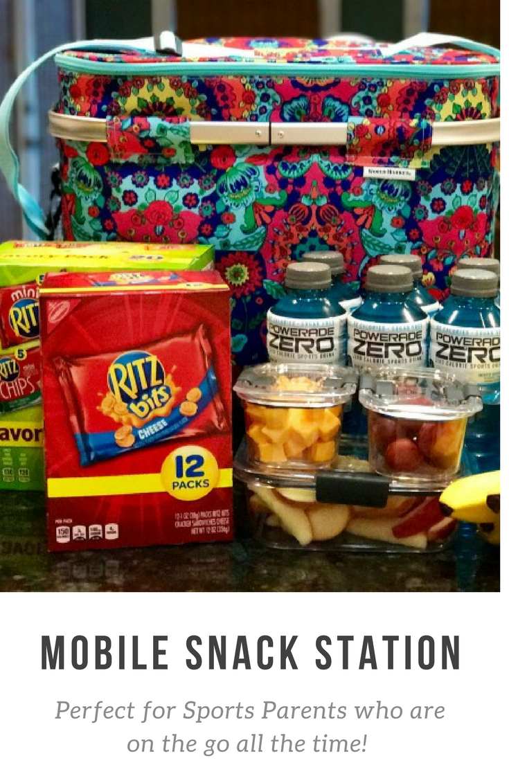 Create a Mobile Snack Station with a Rolling Insulated Cooler, ice packs, a freezable lunch sak for healthy and filling snacks. No more expensive trips to the convenience store or drive thrus! #SaveSnackScore #ad @Walmart