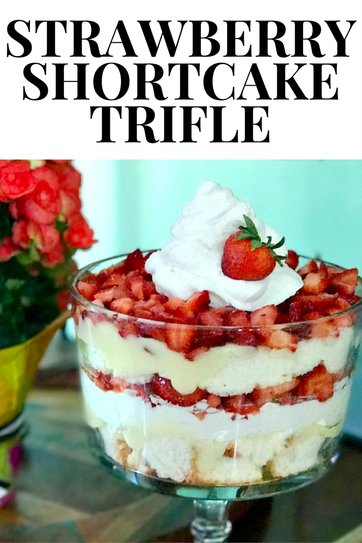 A simple, but oh-so delicious strawberry shortcake trifle recipe. Dessert has never been so good!