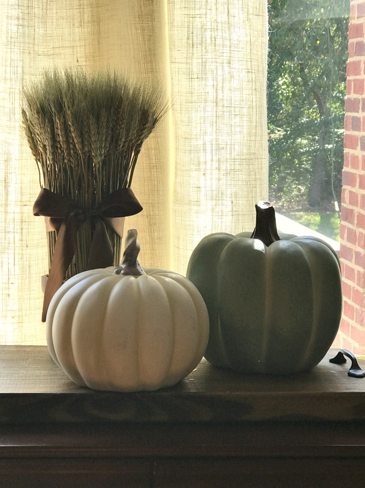 Decorate your home with a touch of fall home decor. Bring the season into your home even when it doesn't feel like it outside!