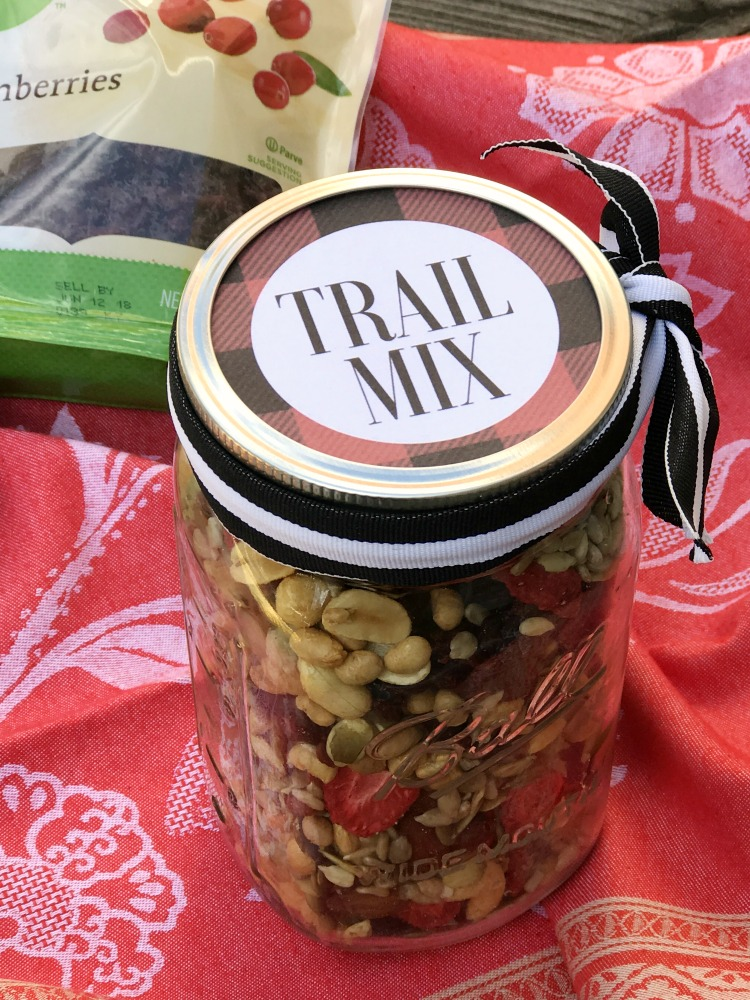 Trail mix is made even better when using organic and tasty mix-ins. Give the gift of flavor when you whip up a batch of this trail mix and gift it with this free printable mason jar label!