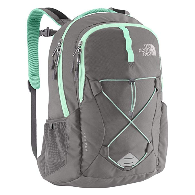 North Face Jester Backpack in Zinc Grey/ Surf Green