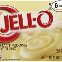 JELL-O Instant Vanilla Pudding & Pie Filling Mix (3.4 oz Boxes, Pack of 6)
